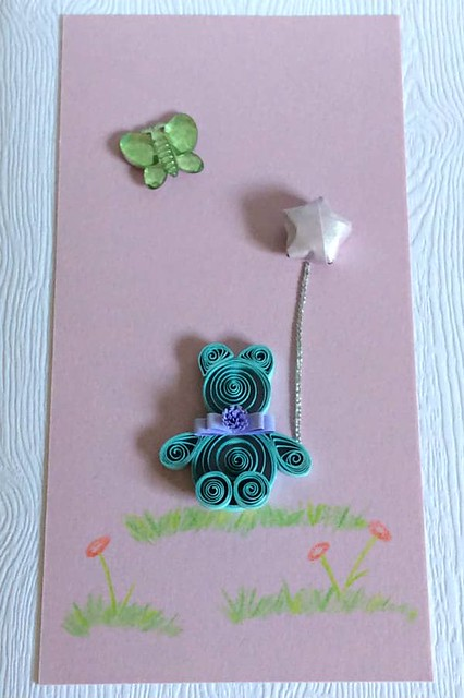 Quilled Baby Card
