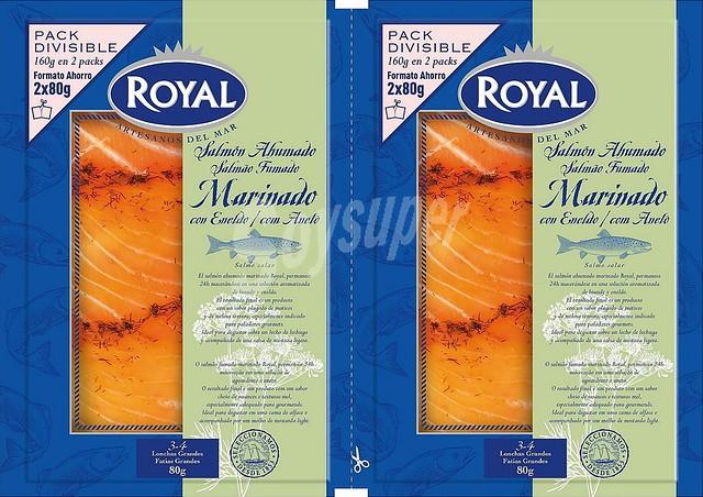 Salmón ahumado marinado marca Royal