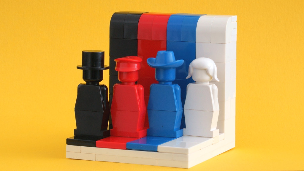 Everyone from the 70's is awesome – LEGOLAND (1970's) monochrome minifigures rainbow