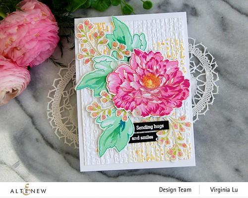Altenew-BAF Tree Peony-Organic Linen 3D Embossing Folder-003