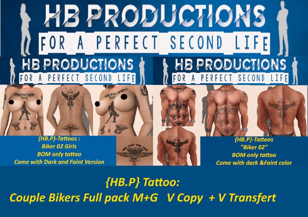 HB.P} Tattoo Biker Full pack M+G V Copy + V Transfert