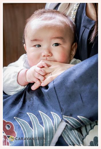 初宮参り 男の子赤ちゃん