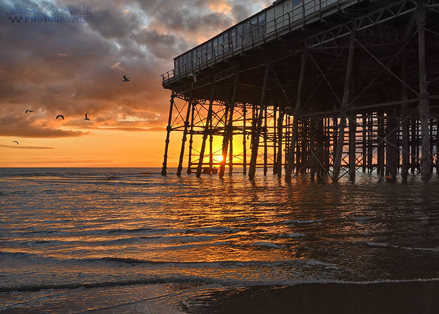 North Pier Sunset, Blackpool.