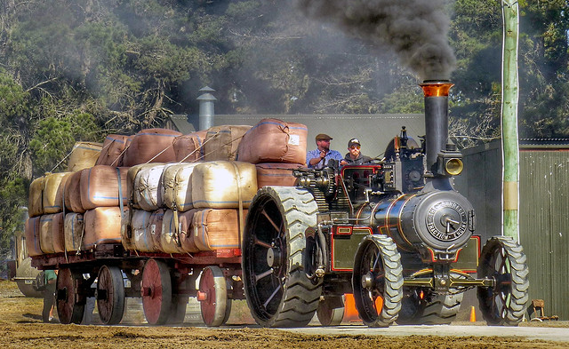 Burrell Traction Engine at work.