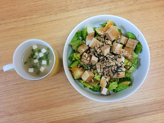 Japanese-Flavoured Soup and Salad