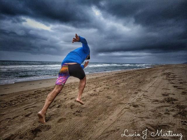 Atletismo Master. Playa de Gavá.