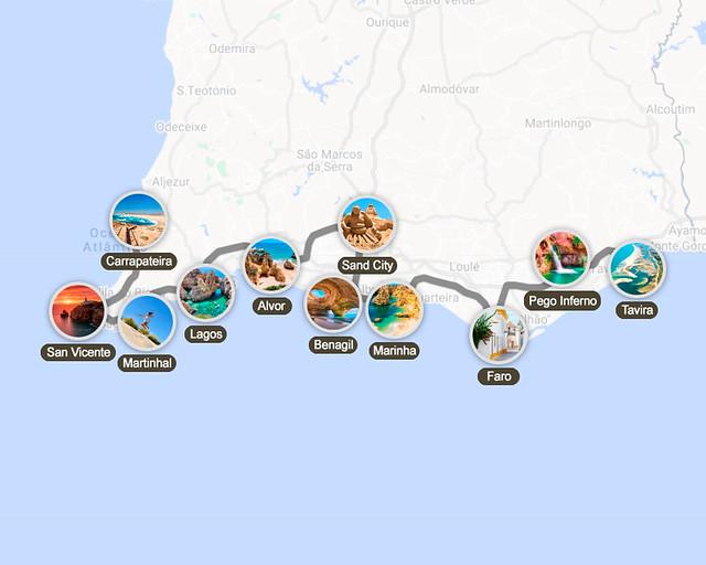 Ruta por el Algarve en coche