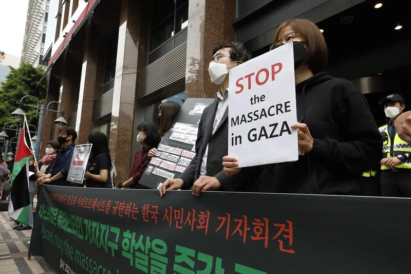 20210520_이스라엘의 가자지구 침공 규탄 기자회견
