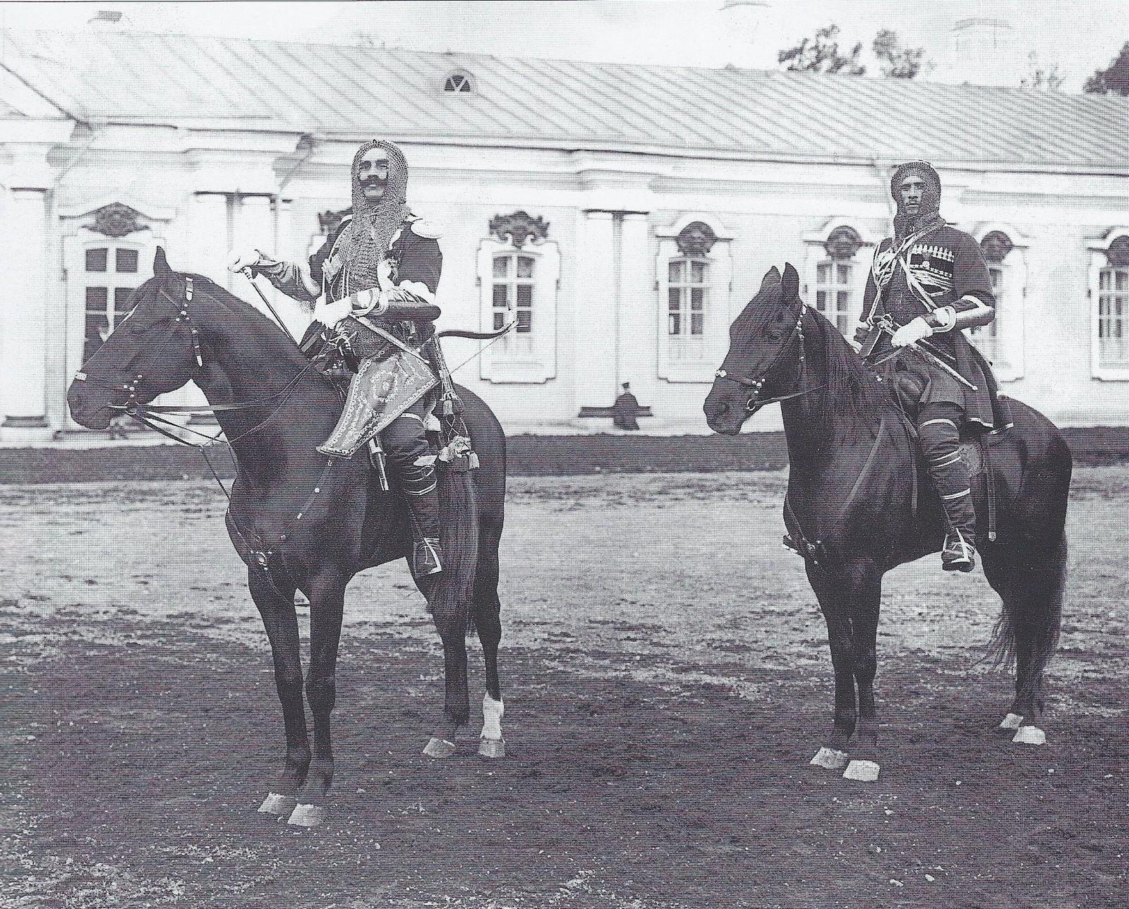 1911. Историческая форма Кавказско-горского полуэскадрона соб.е.и.в. Конвоя