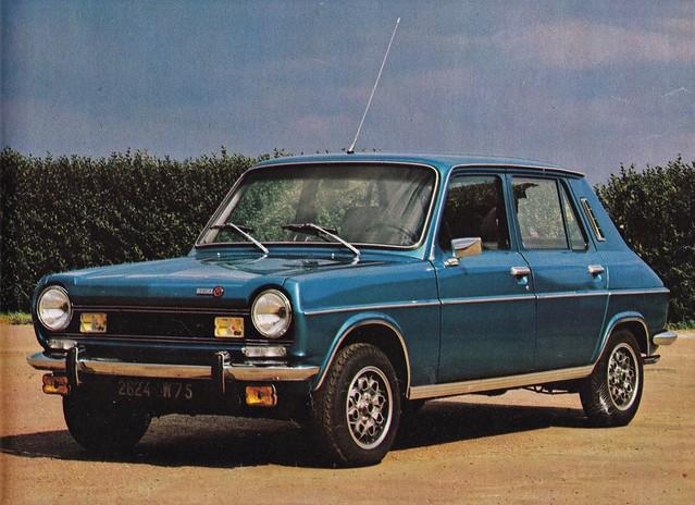 Postcard Simca 1100 Ti Collection l'Automobile-Magazine 1974a