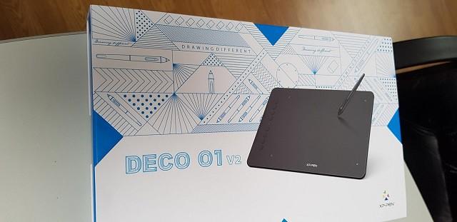 unboxing xp-pen deco 01 v2 graphics tablet