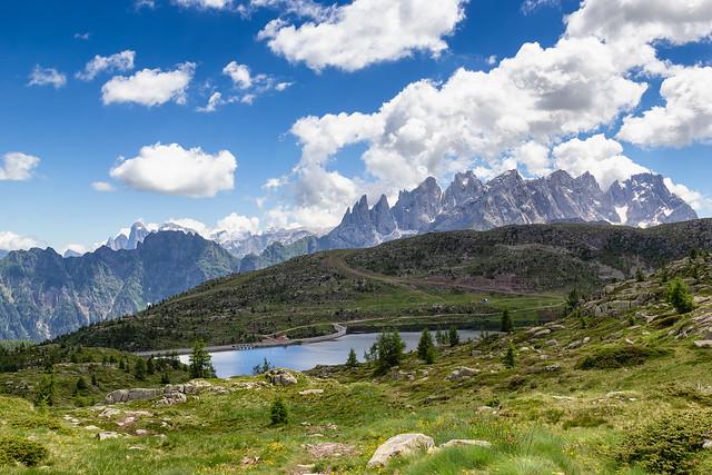 Lago di Cavia e Pale di S. Martino