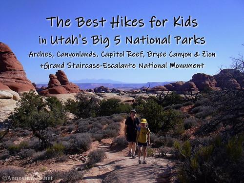 The Best hikes for kids in Utah's Big 5 National Parks.  Hiking in Chesler Park, Canyonlands National Park, Utah