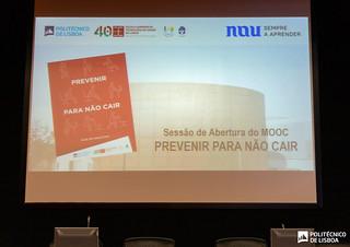 """Sessão de abertura oficial do MOOC """"Prevenir para não cair"""""""