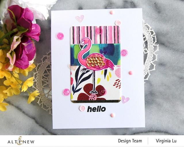 Altenew-Poised Flamingo Stamp & Die Bundle-Rounded Rectangles Die-Enjoy The Ride Washi Tape Set-002