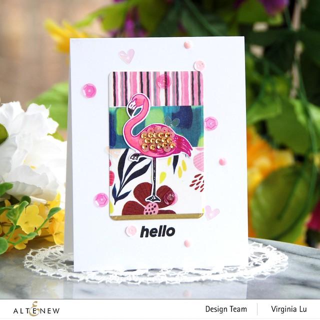 Altenew-Poised Flamingo Stamp & Die Bundle-Rounded Rectangles Die-Enjoy The Ride Washi Tape Set