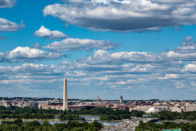 Cloudy afternoon over Washington DC
