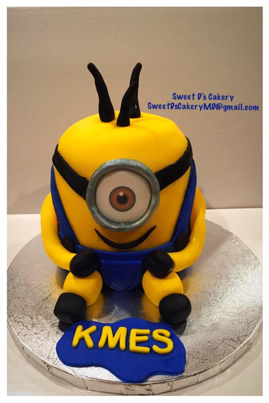 Minion Cake by Sweet D's Cakery