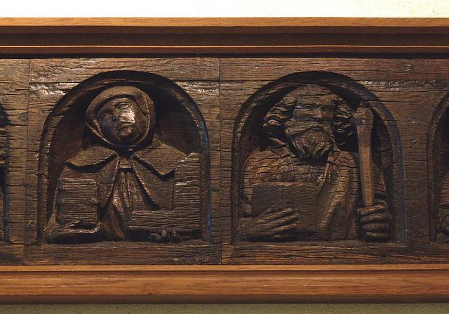 Maastricht, Limburg, Sint Servaaskerk, treasury, apostle beam, detail