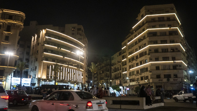 Buildings in Tahrir square after renovation