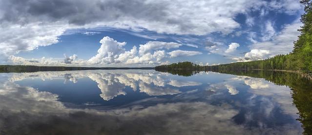 Windless calm lake