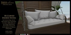 SR Curved Daybed Swing @ Shiny Shabby