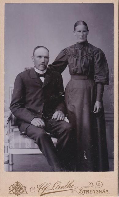Karl Erik Hedin and his wife Johanna Elin Sjöqvist