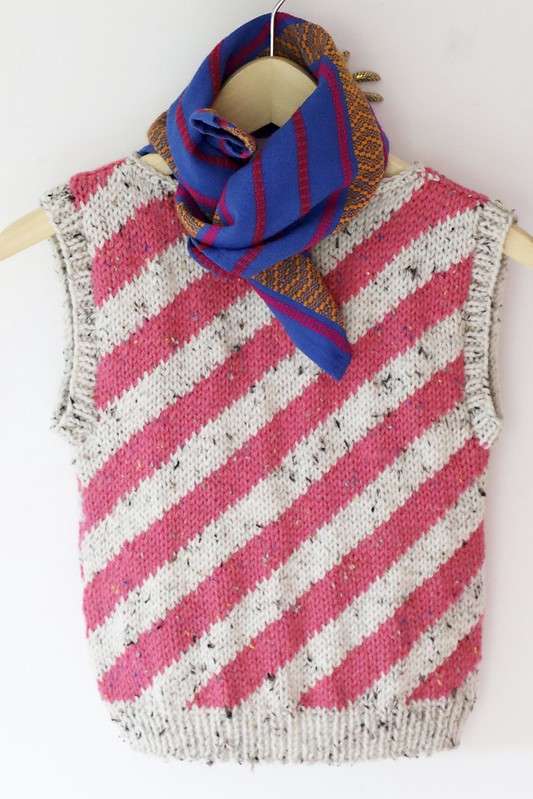 knitted striped spencer