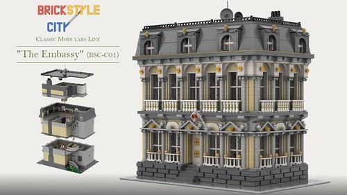 The Embassy Modular Building MOC