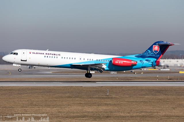 OM-BYB Slovak Government Flight Service Fokker F100 (EDDM - MUC - Munich)
