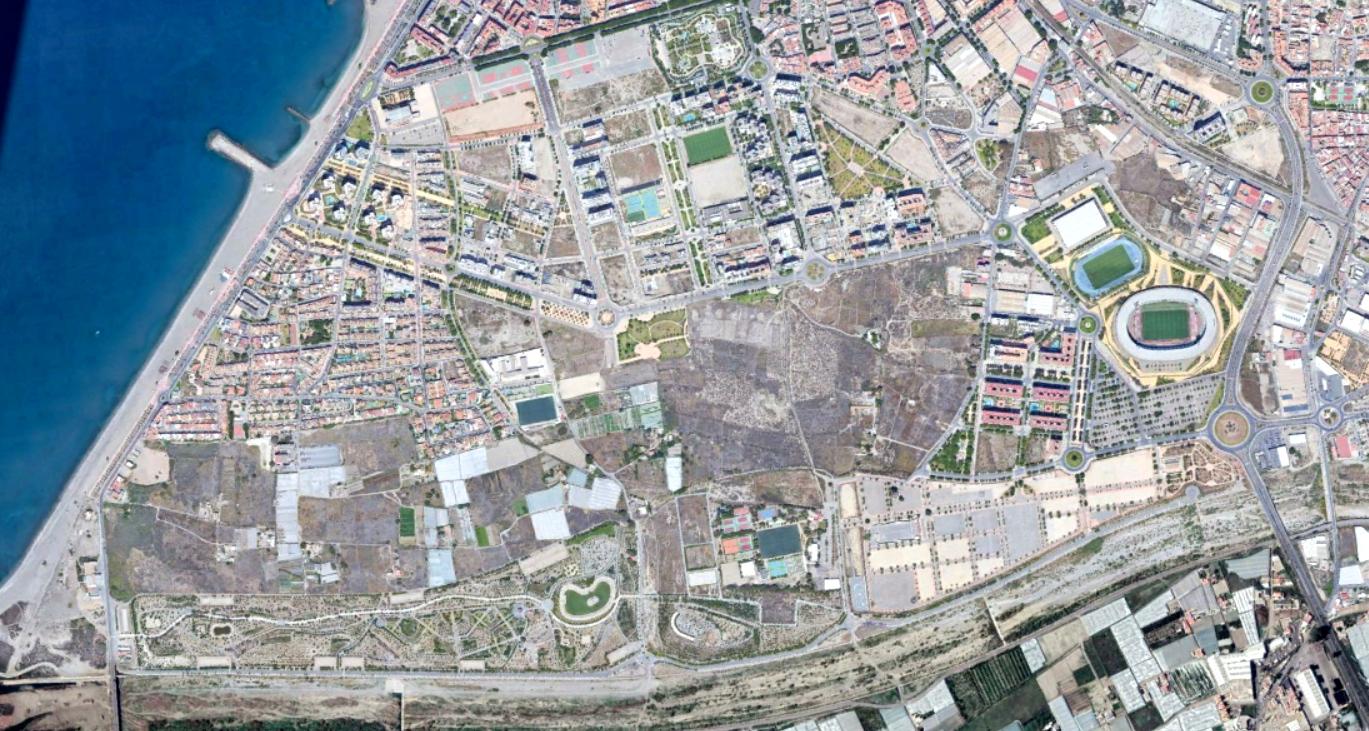 almería (sureste), almería, estadio de los juegos mediterráneos, después, urbanismo, planeamiento, urbano, desastre, urbanístico, construcción, rotondas, carretera