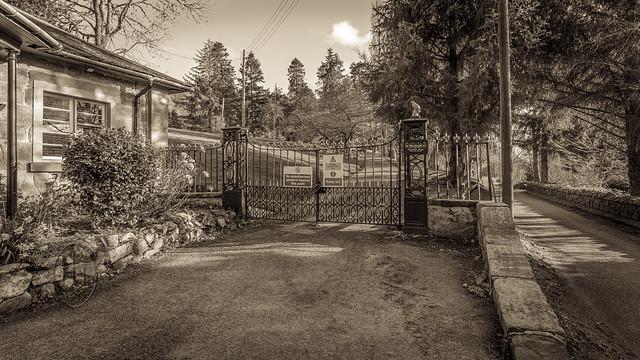 Boleskine House Gates 2 of 2 Toned