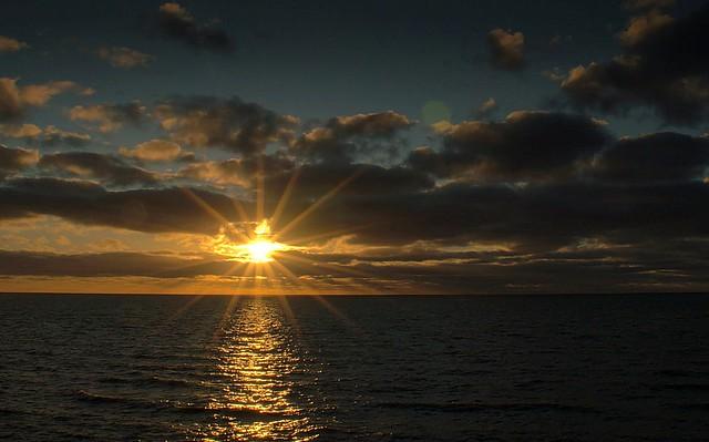 Sunshine over the coast at Blackpool