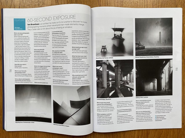 'B+W Photography' magazine issue No 252 - May 2021 Interview