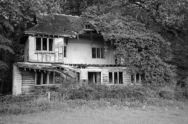 Old abandoned Cricket Pavilion. Norfolk.