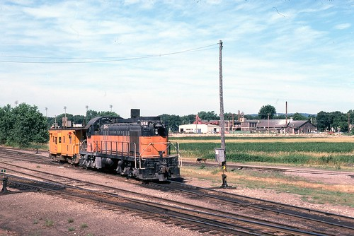 Milwaukee Road RSC2 #594 at the east end of the North La Crosse yard (?)