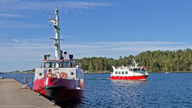 The boats Bamse and Stångskär in Ankarudden on the island of Torö, Nynäshamn, Sweden