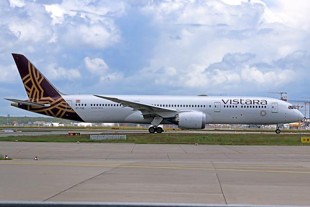 Vistara Boeing 787-9 VT-TSE FRA 16-05-21