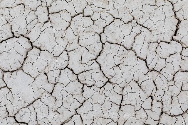 Cracks in Clay in Toadstool Geologic Park