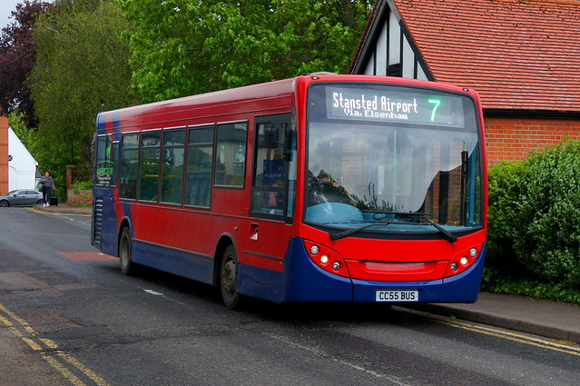 Rouletting: Trustybus (ex Arriva London ENL38) ADL Enviro200 10.2m CC55BUS (formerly LJ09KRE) Chapel Hill Stansted Mountfitchet 20/05/21