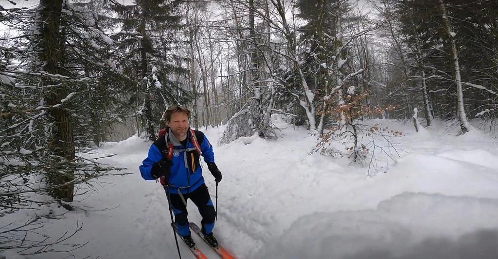 Skialp nad Hrobem - Bouřňák Krušné hory Czech photo 02