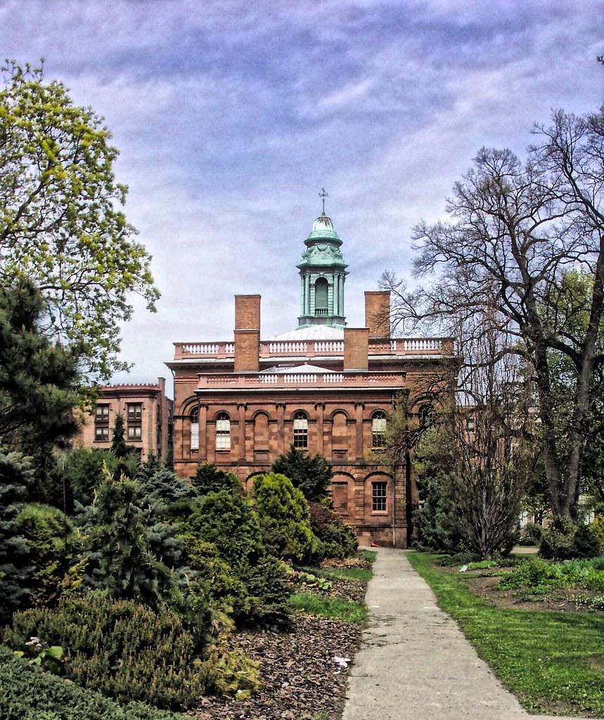 Albany New York ~ Old Albany Academy Building ~ Joseph Henry  Memorial