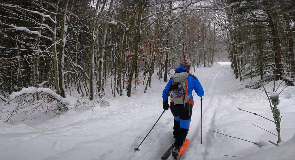 Skialp nad Hrobem - Bouřňák Krušné hory Czech photo 03