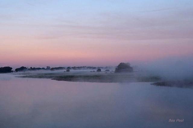 Ben Paul F0552 Landscape at sunrise in the fog at Lexkesveer (Netherlands), 2018