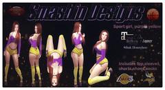 Sporty Girl (Purple & Yellow)