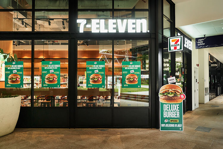 Impossible Burger at 7-11 Singapore