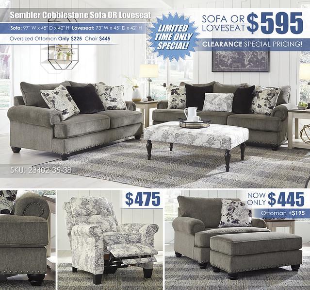 Sembler Cobblestone Sofa OR Loveseat Layout Special_23402-38-35-03-T751_2021