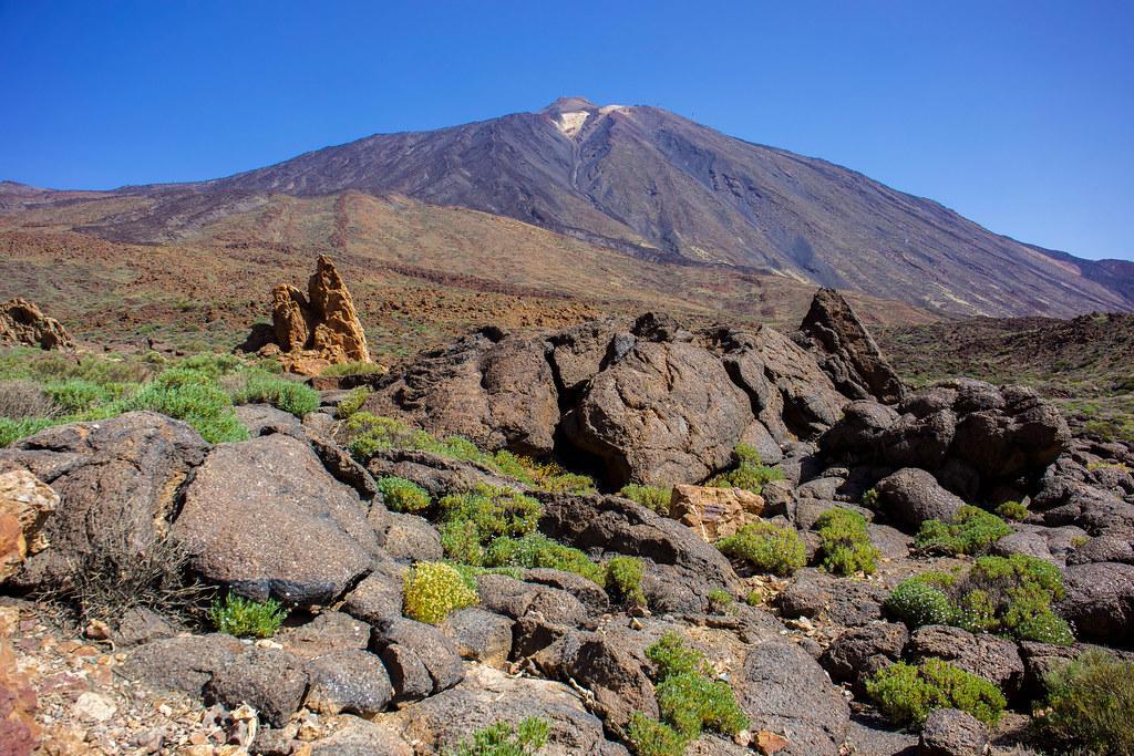Coladas pahoe hoe delante del Teide