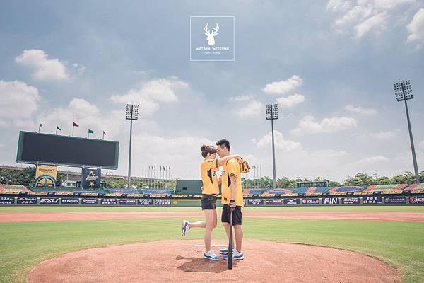 洲際棒球場拍照