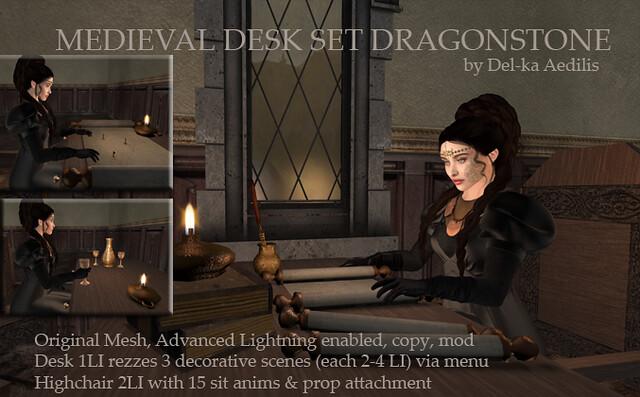 Medieval Desk Set Dragonstone